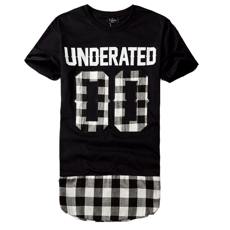 T shirt design hip hop - 2016 Underated Bandana Men S Extended Tee Shirts Men Skateboard Element T Shirt Hip Hop Tshirt Streetwear Clothing
