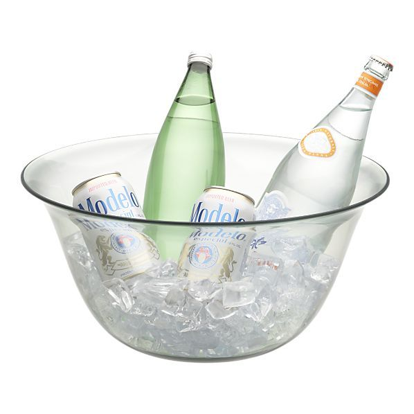 Barcelos Green Acrylic Party Tub-Serving Bowl - perfect for outdoor entertaining this summer