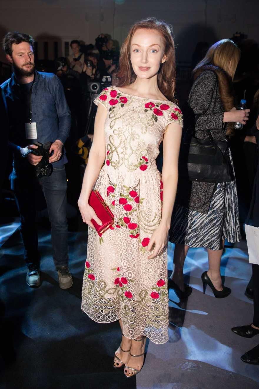 Olivia Grant wears the Temperley London Antila Dress from the Autumn '16 collection