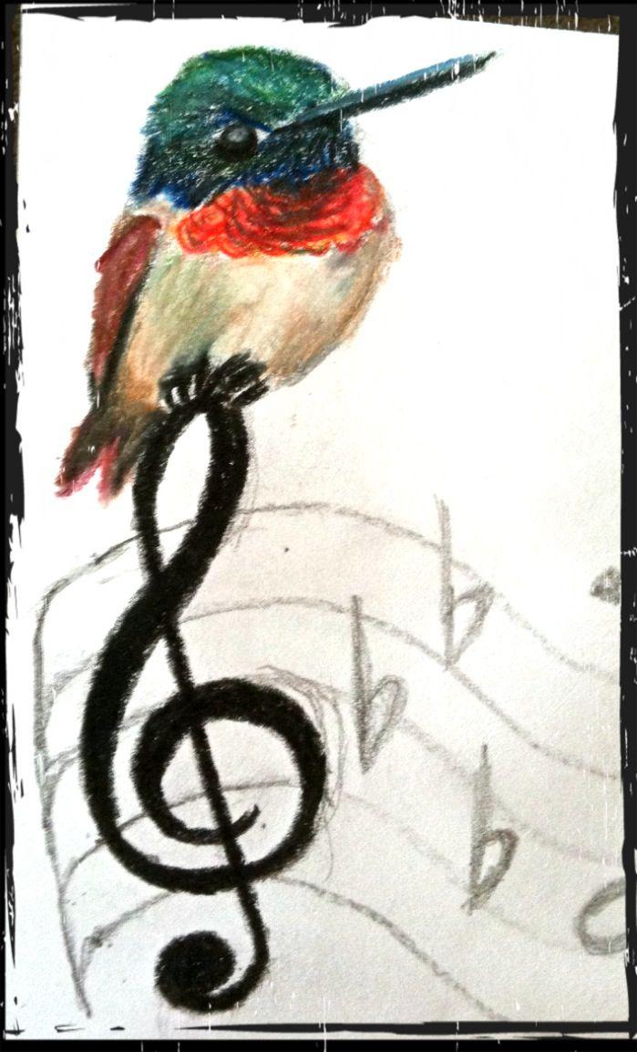 Hummingbird tattoo designed by Amanda Kriss
