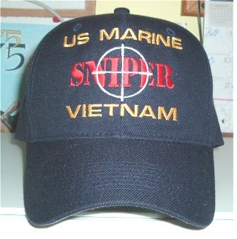 US MARINE VIETNAM SNIPER Custom made ball caps sell for  42.50 ea. fronts  only. See www.hatsoff-usa.com or contact ussforrestalcva59 gmail.com 3455d84b385