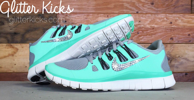 Bling Nike Free 5.0 Glitter Kicks With Swarovski Crystal Rhinestones - Bling  Nikes 757e9a034