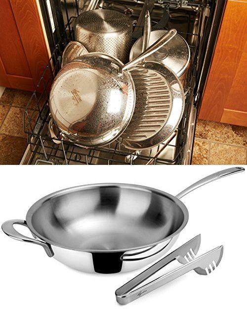 34ec10a6123 Lagostina Q55105 Saltapasta Stainless Steel Dishwasher Safe Oven Safe Deep  Pasta Saute Pan