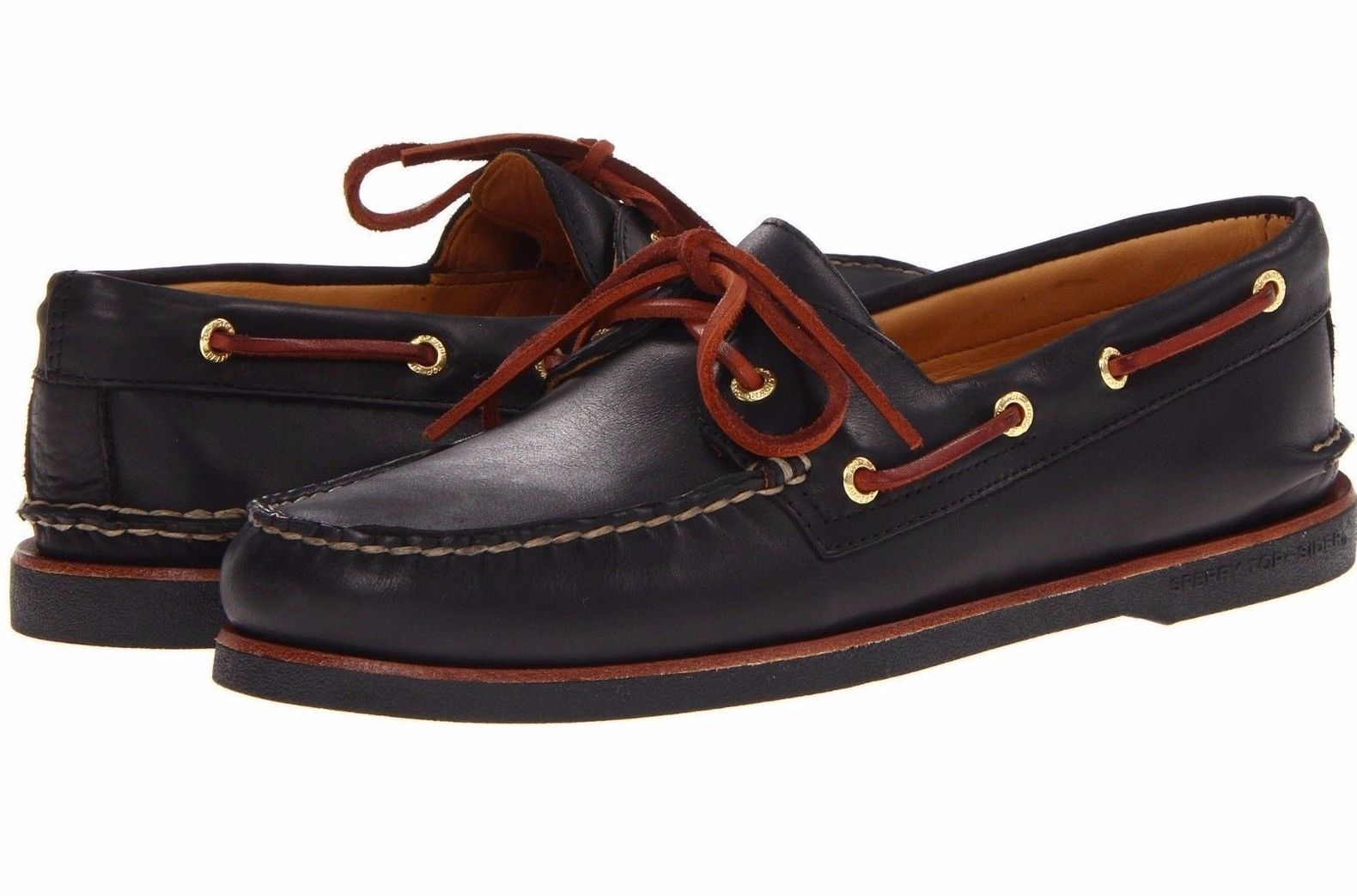 SPERRY TOP-SIDER men GOLD CUP A/O 2-Eye BOAT SHOES Lace