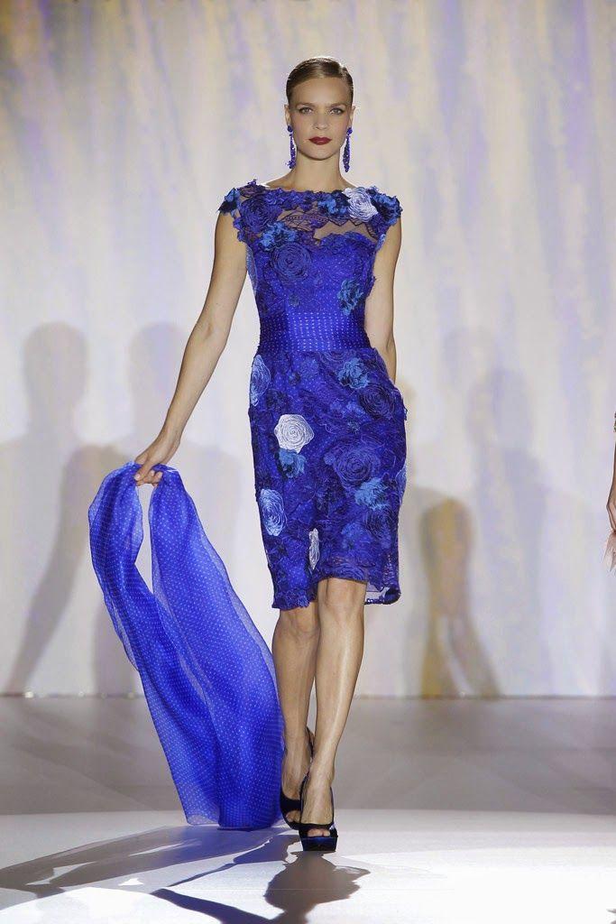 Hermoso vestido en color azul | Vestidos de fiesta | Pinterest ...