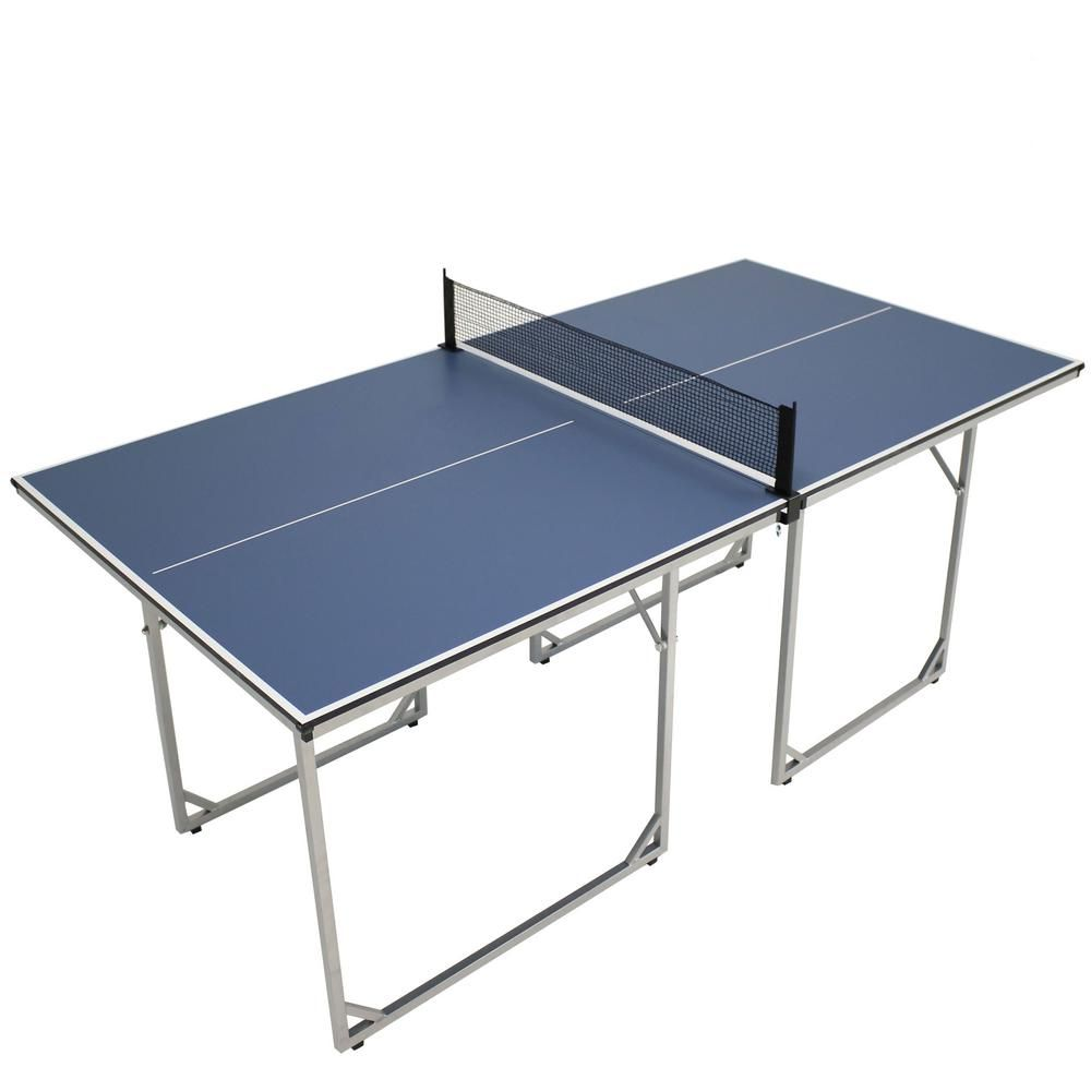 Sunnydaze Decor 72 In X 36 In Folding Indoor Table Tennis Table With Net Table Tennis Dimensions Table Tennis Equipment Table Tennis Set