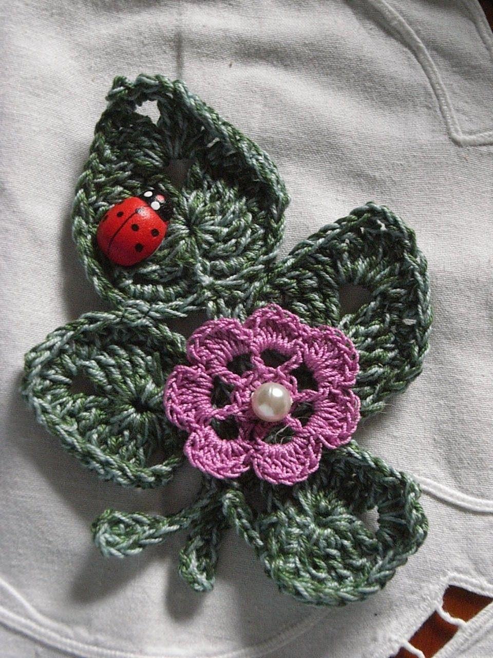 Motiv 5*Applikation blätter häkeln*crochet leaves* irish lace crochet DIY