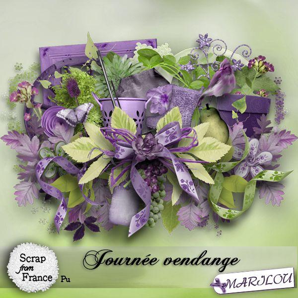 Journée vendange kit by Marilou Journée vendange kit by Marilou [marilou_journeevendange] - €1.95 : Boutique ScrapFromFrance