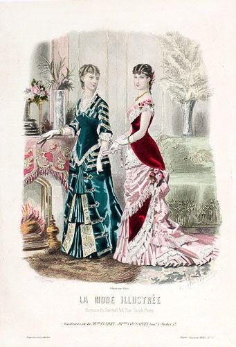 Original Antique French Fashion Prints For Sale Victorian Fashion Dresses Victorian Fashion Historical Fashion