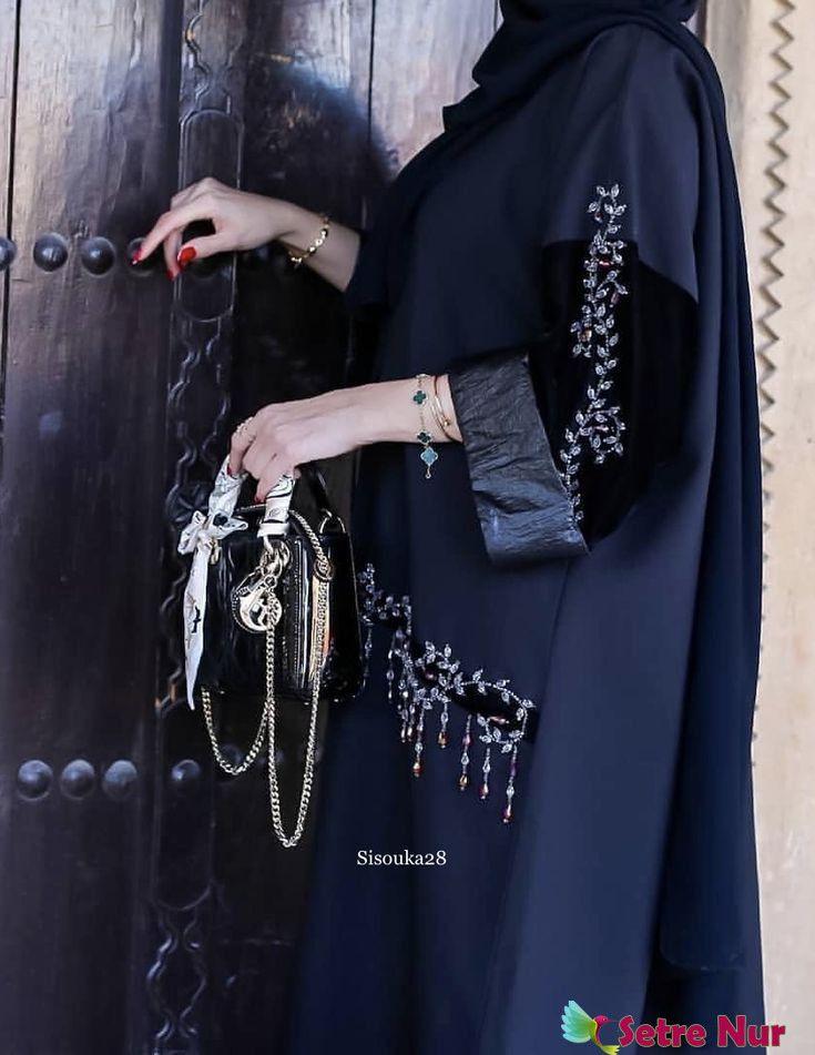 Black Rose Abaya Fashion Hijab Fashion Inspiration Fashion