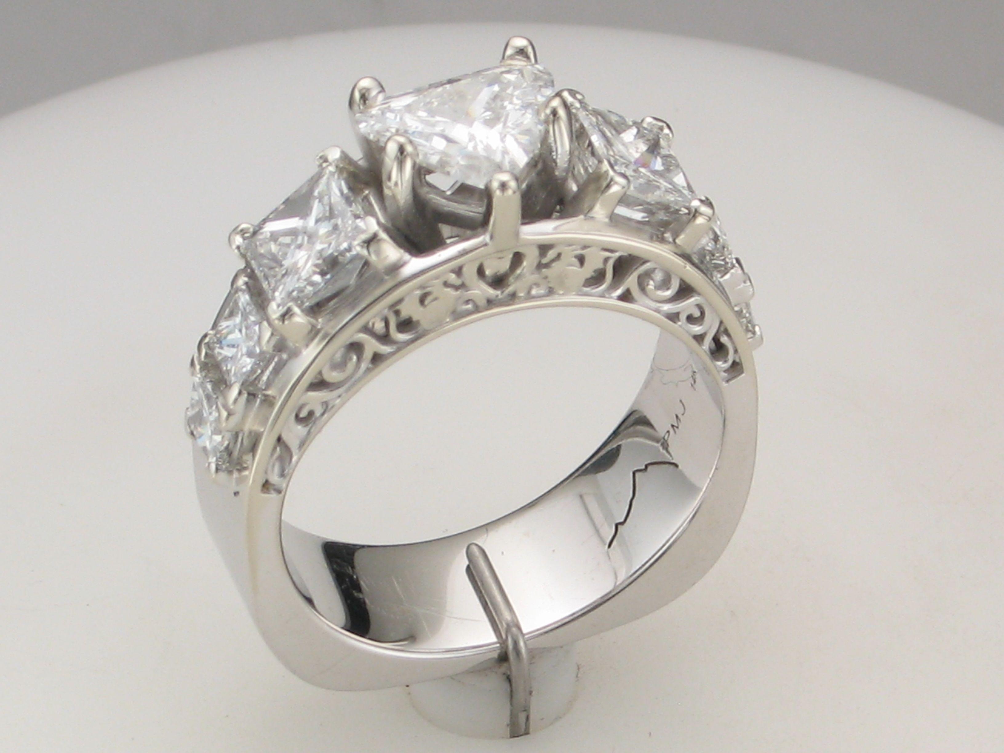Purple Mountain Jewelry #Custom Designs Fancy #Heart & #Princess Cut ...