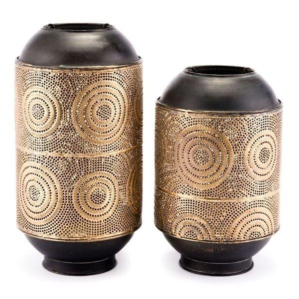 Espiral Candle Holder Lg Antique Gold (Steel)