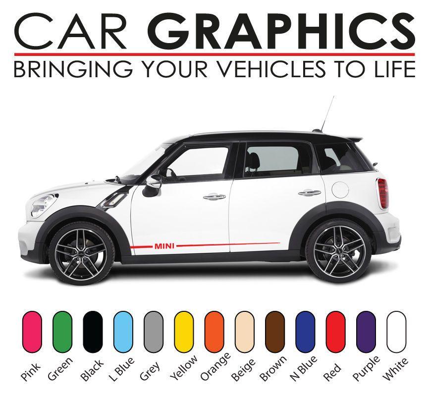 Mini Car Cooper Graphics Decals Stickers Vinyl Design Mn10 Mini