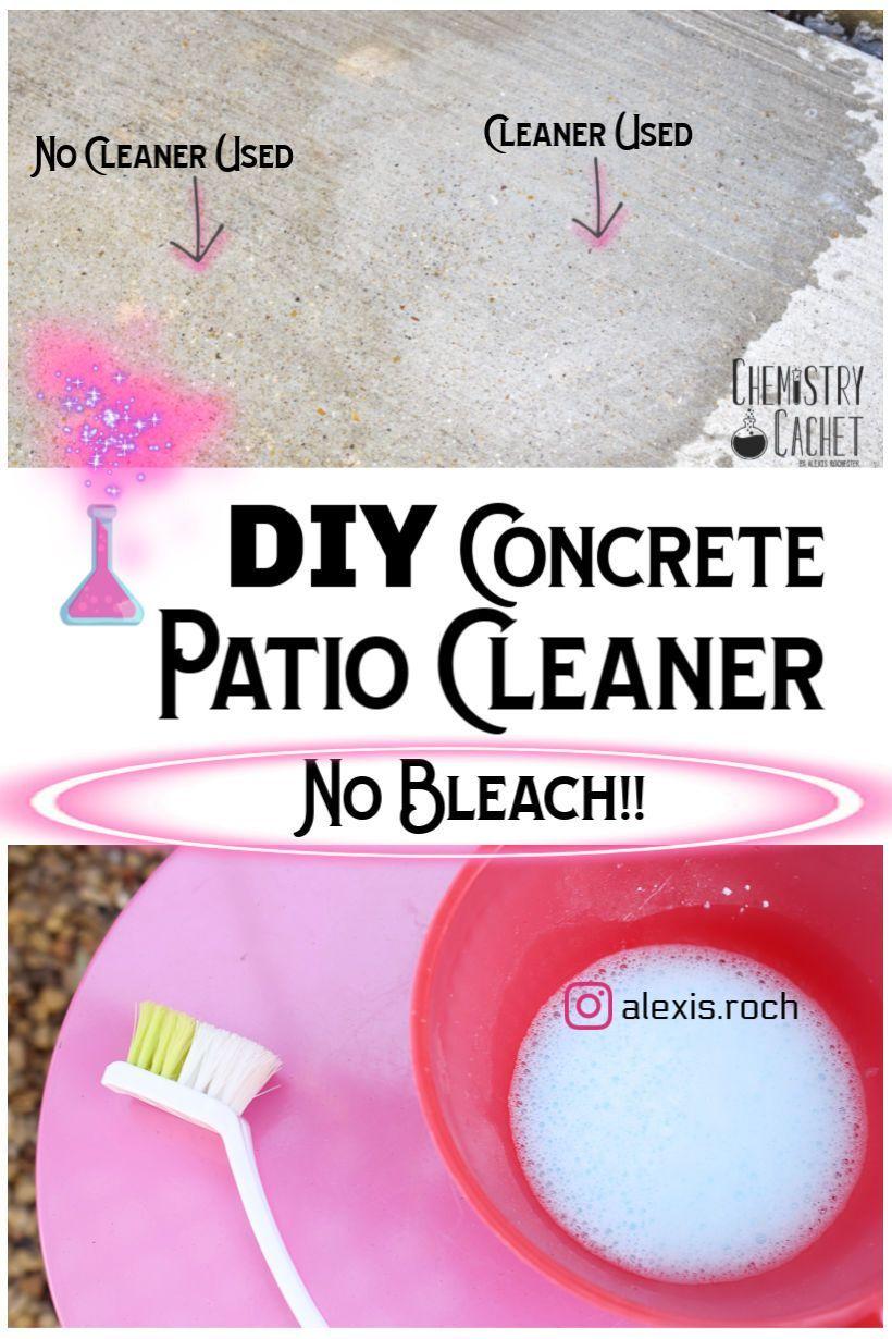 Diy concrete patio cleaner based on science diy concrete