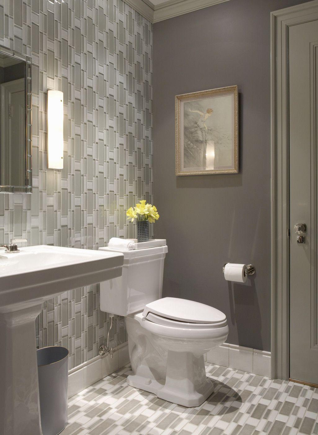 Warm Neutrals In A Sleek Bathroom Gray Bathroom Decor Bathroom Design Decor Bathroom Decor