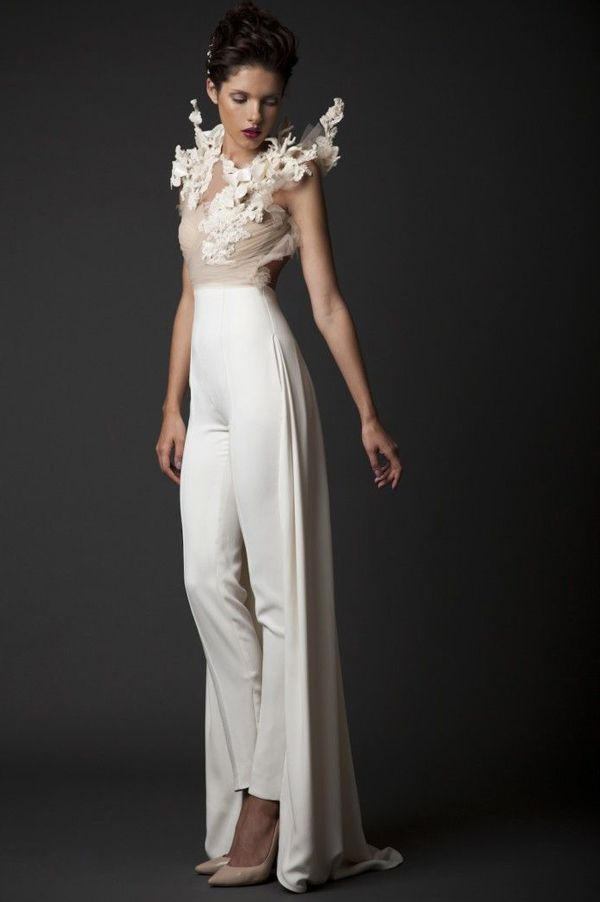 25 Unconventional Bridal Pants Suits For The Modern Bride The