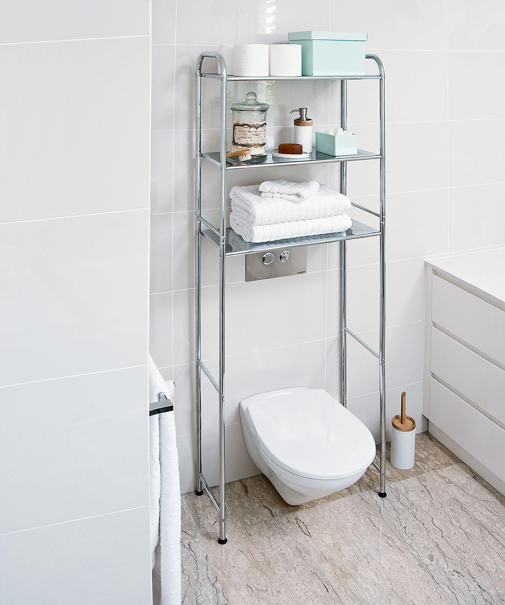 Great chrome bathroom storage photos bathroom and shower for 26 great bathroom storage ideas