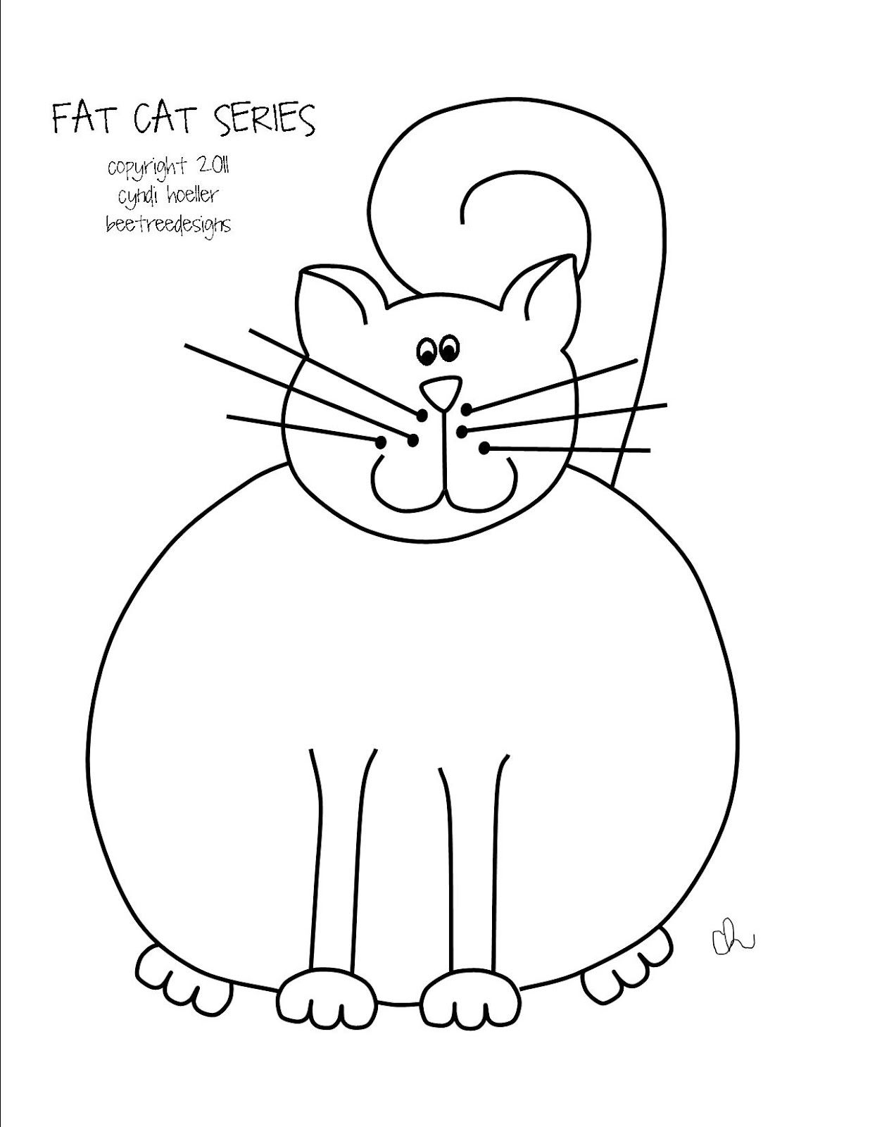 Fat Cat Patterns Cool Inspiration Ideas