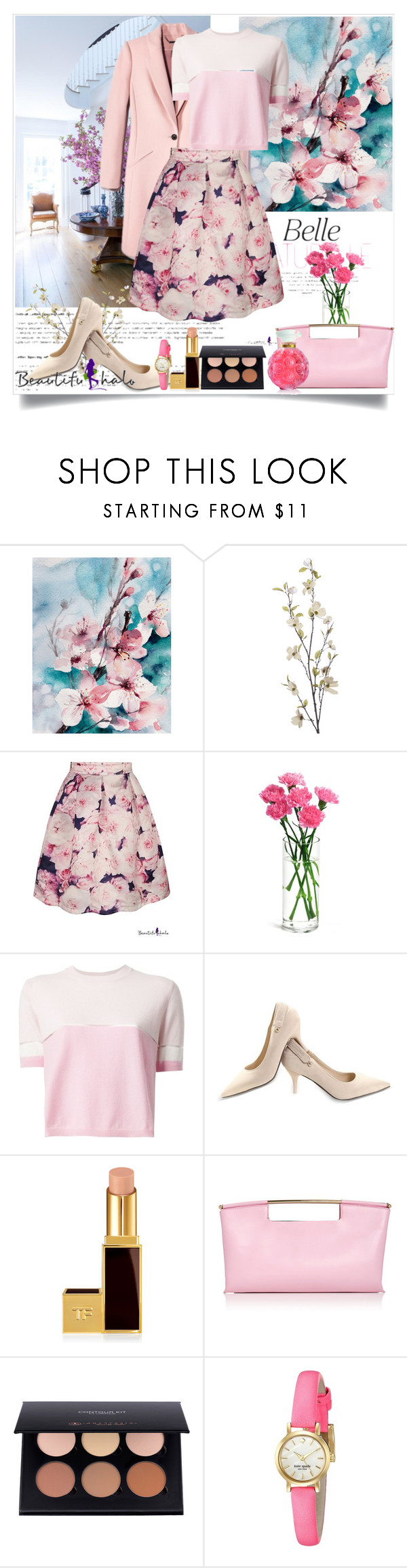 """""""beautifulhalo"""" by misaflowers ❤ liked on Polyvore featuring Baccarat, Pier 1 Imports, Fendi, Tom Ford, Delpozo, Kate Spade and Lalique"""