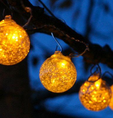 Aurora glow clear string lights solar string lightsglass lightsoutdoor