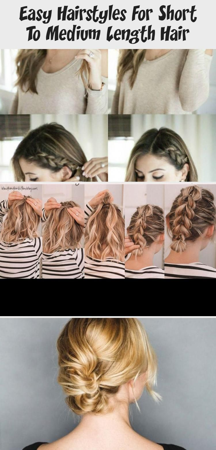 Looking For Great Ways To Style Your Short Hair Learn How To Style That Short Hair With 10 Easy Sho In 2020 Medium Length Hair Styles Hair Lengths Short Hair Tutorial
