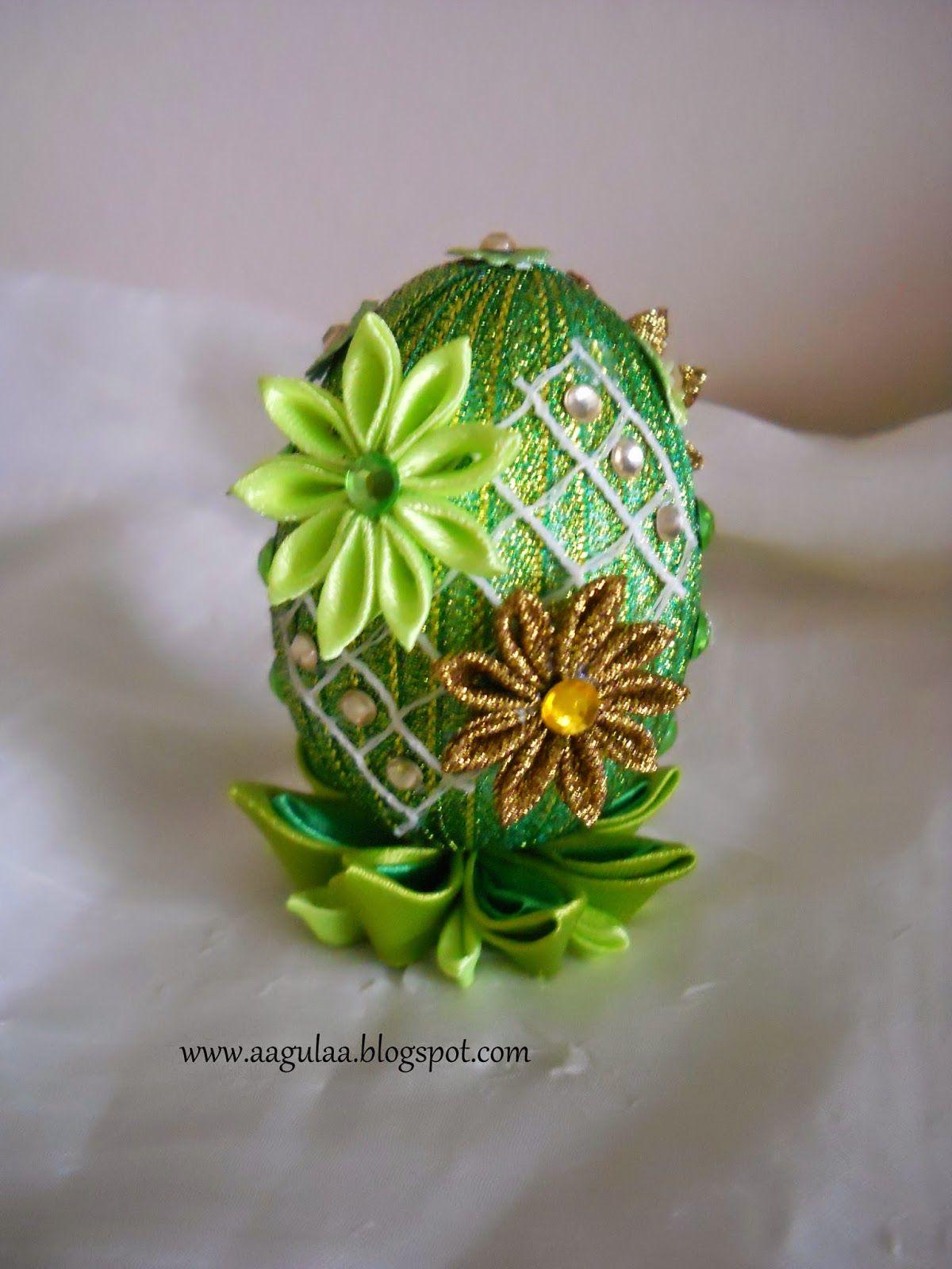 Moja Mala Galeria Tworkow Pisanki Kanzashi Kanzashi Kanzashi Tutorial Easter Design