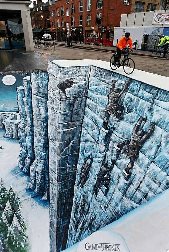 """""""the wall"""" in london #gameofthrones"""