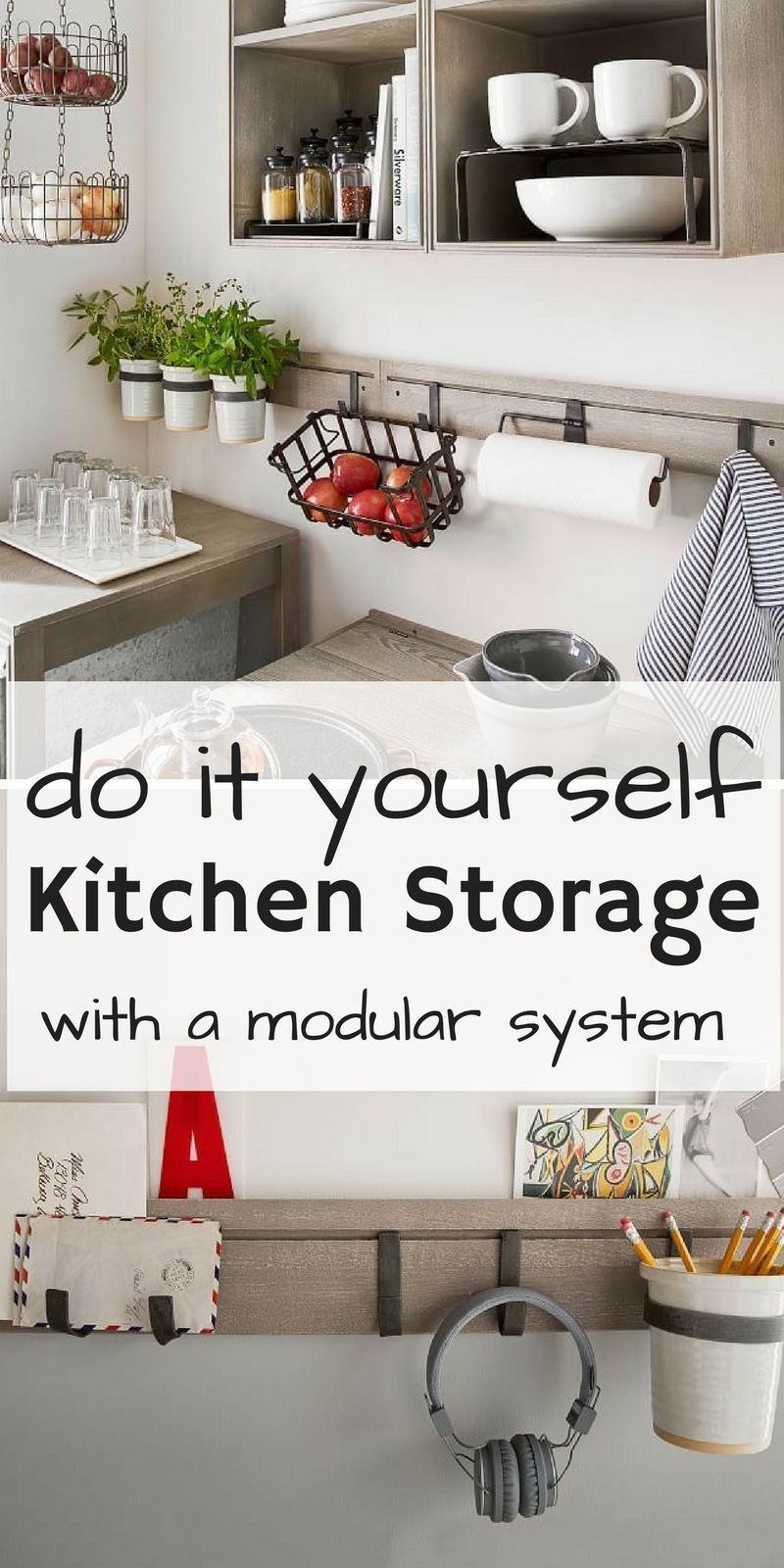 DIY mission modular system for extra storage in the kitchen ...