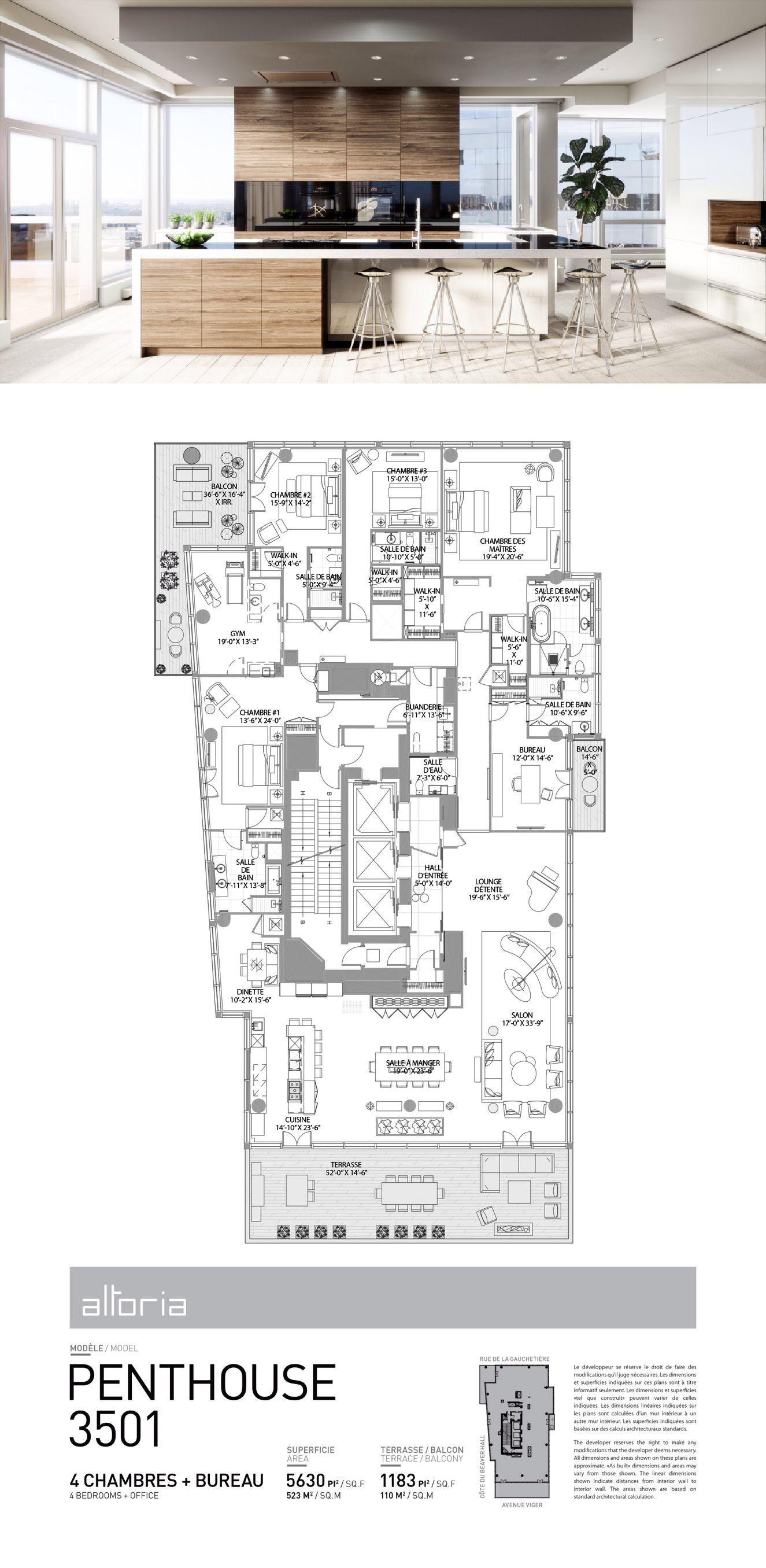 Plans 35th Floor Altoria Downtown Montreal Condos Condo Floor Plans Apartment Plans Floor Plans