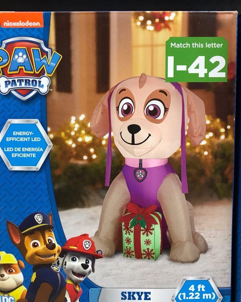ca430875c0929 Airblown Inflatable Paw Patrol Skye 4ft Gemmy Christmas Holiday Yard Decor   Gemmy
