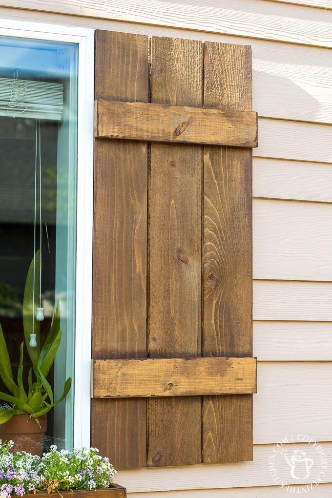 DIY Window Box and Shutters - Catz in the Kitchen