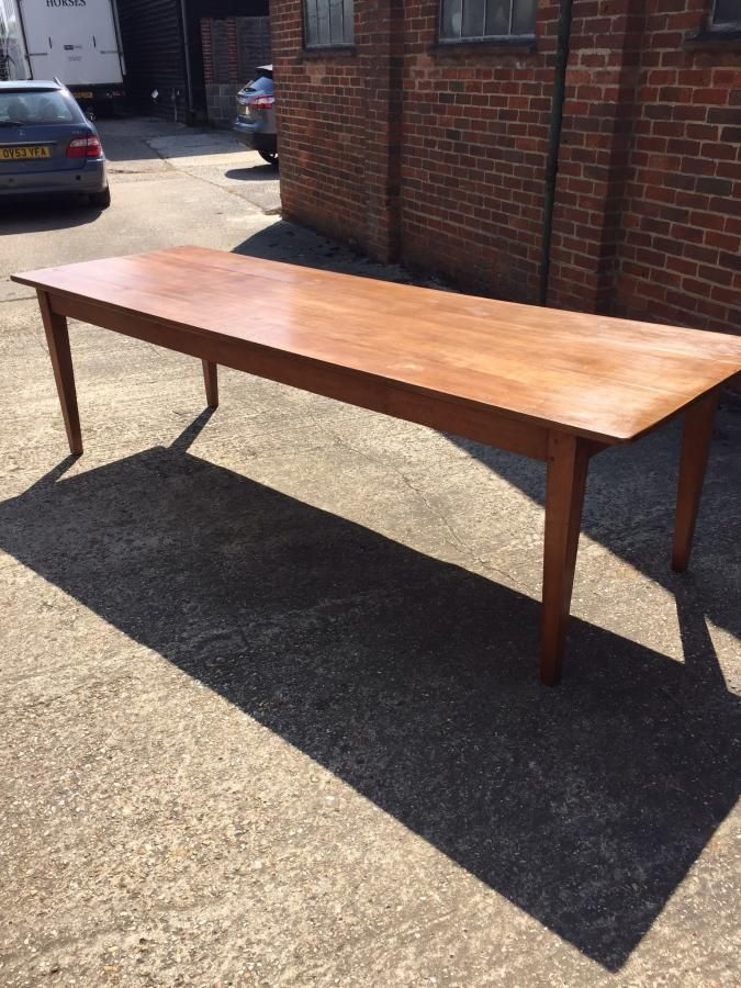 Fabulous Late 19th Century Cherry Wood Farm House Table