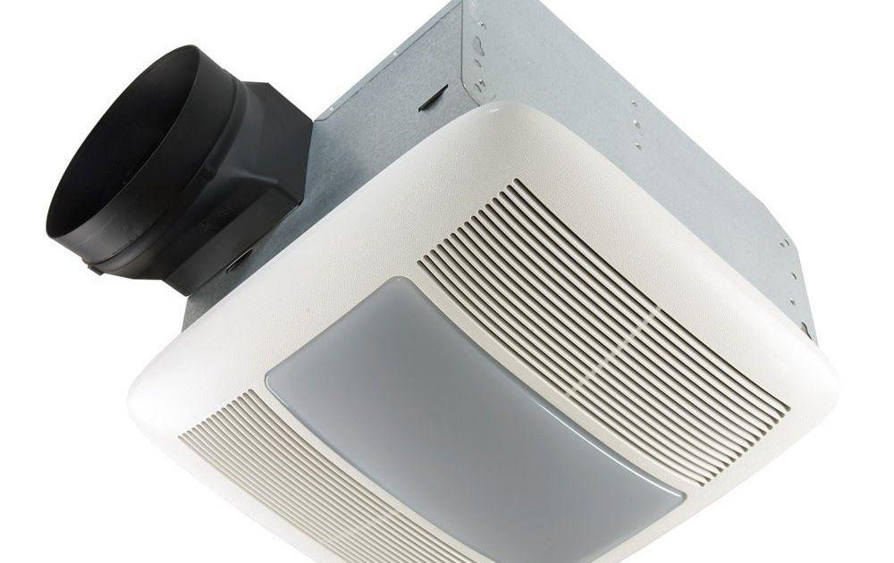 Qtx Series Very Quiet 110 Cfm Ceiling Exhaust Bath Fan With Light