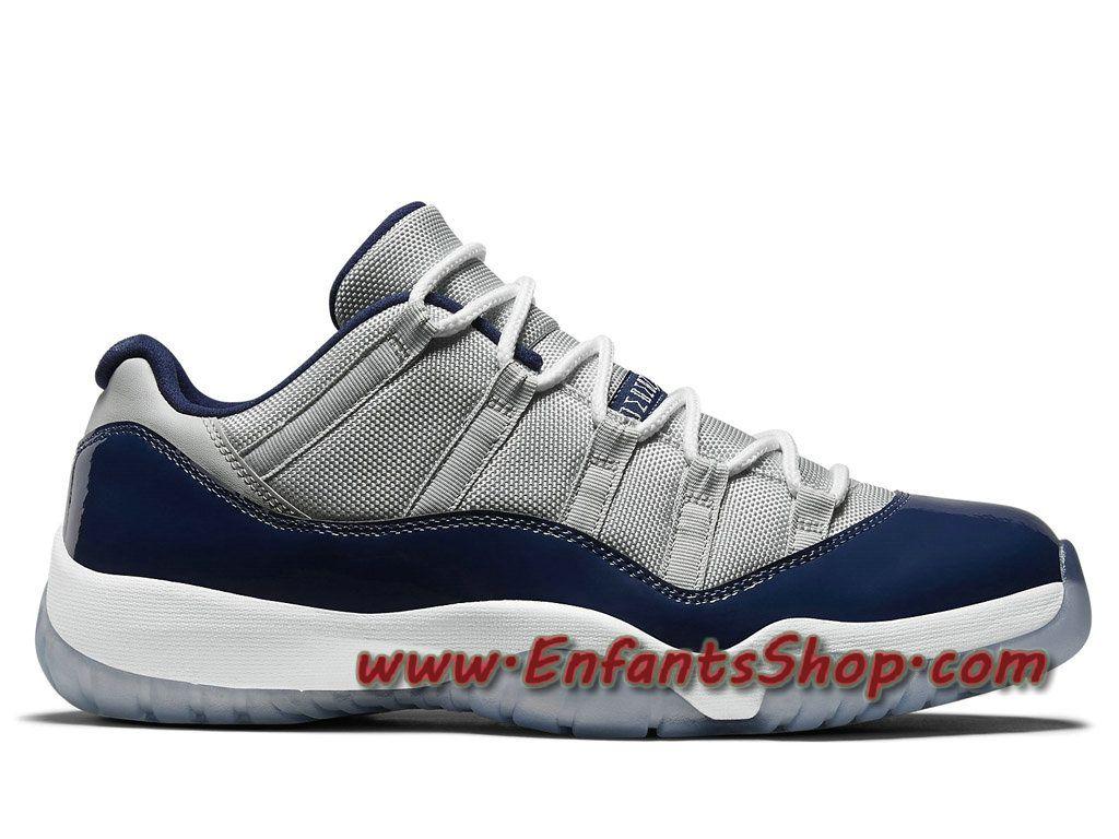 Air Jordan 11/XI Retro Low Georgetown Chaussures Jordan Officiel Pas Cher Pour Homme Gris