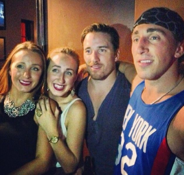 Brad Marchand and his siblings