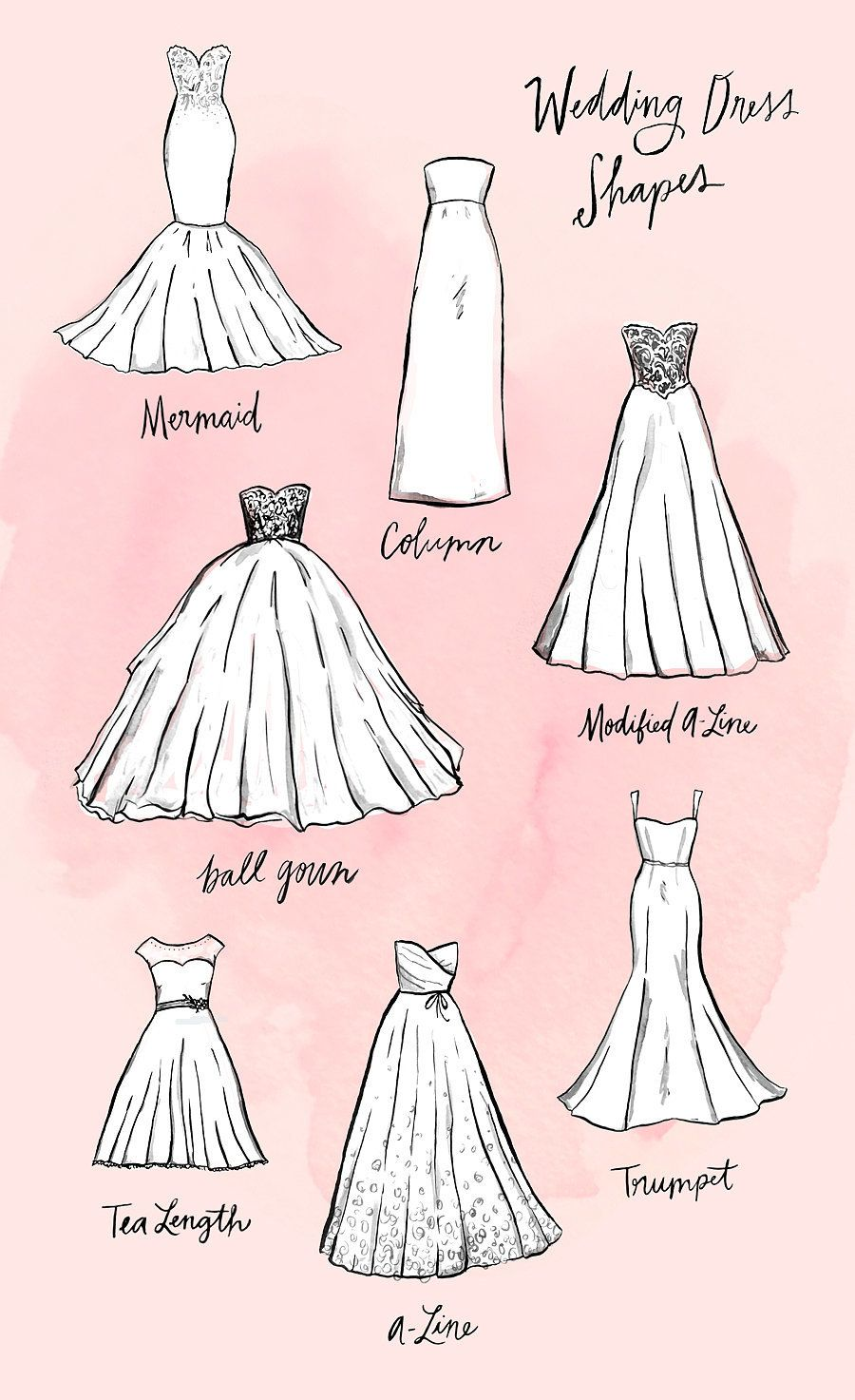Everything you ever wanted to know about wedding dress silhouettes