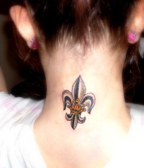 Crown / Fleur De Lis tattoo