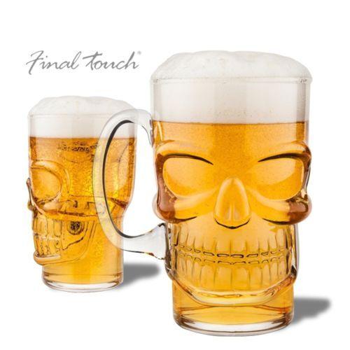 Totalcadeau Verre A Biere En Forme De Crane Pas Cher Achat Vente Verre A Verre A Biere Biere Verre