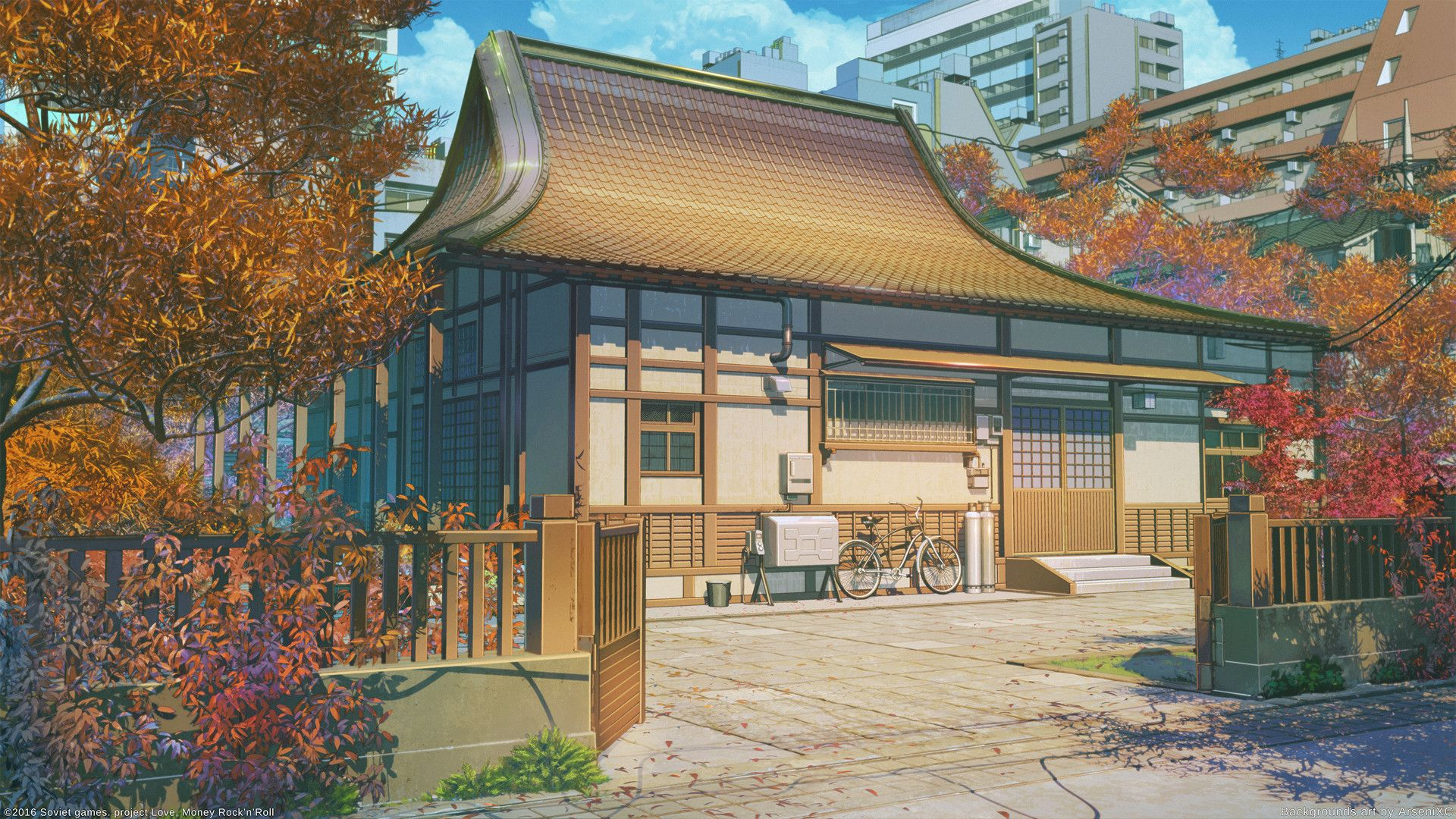 Anime Scenery Building Anime Background Anime Places Anime Scenery Wallpaper