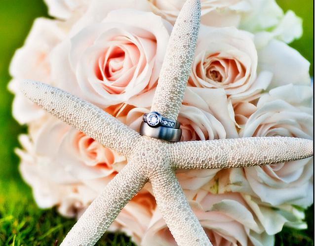 Beach Theme Wedding Bouquet With A SeastarPNG