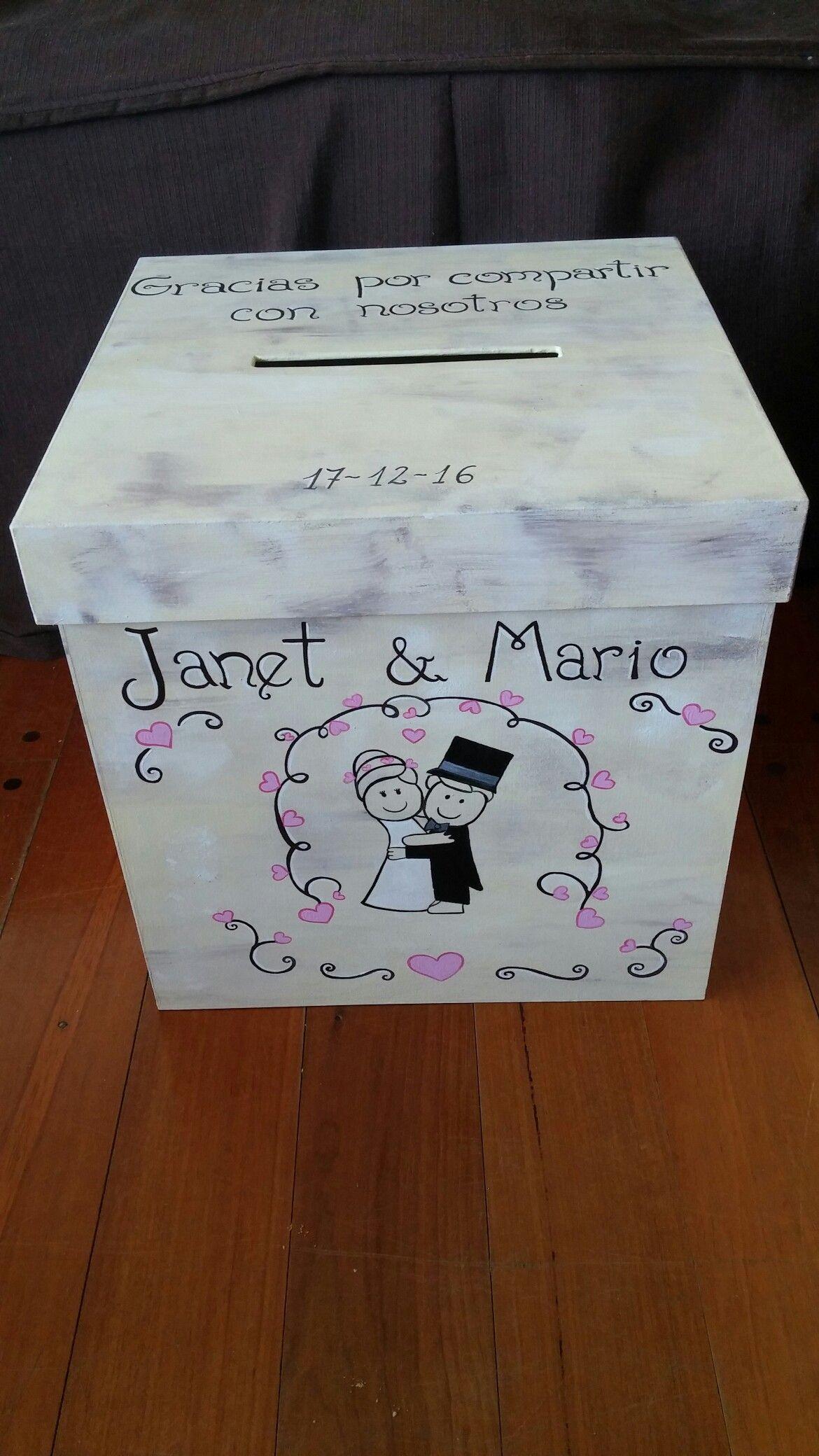 fd34b753e Caja alcancia urna para boda personalizada en medida 30x30x30 cm ...