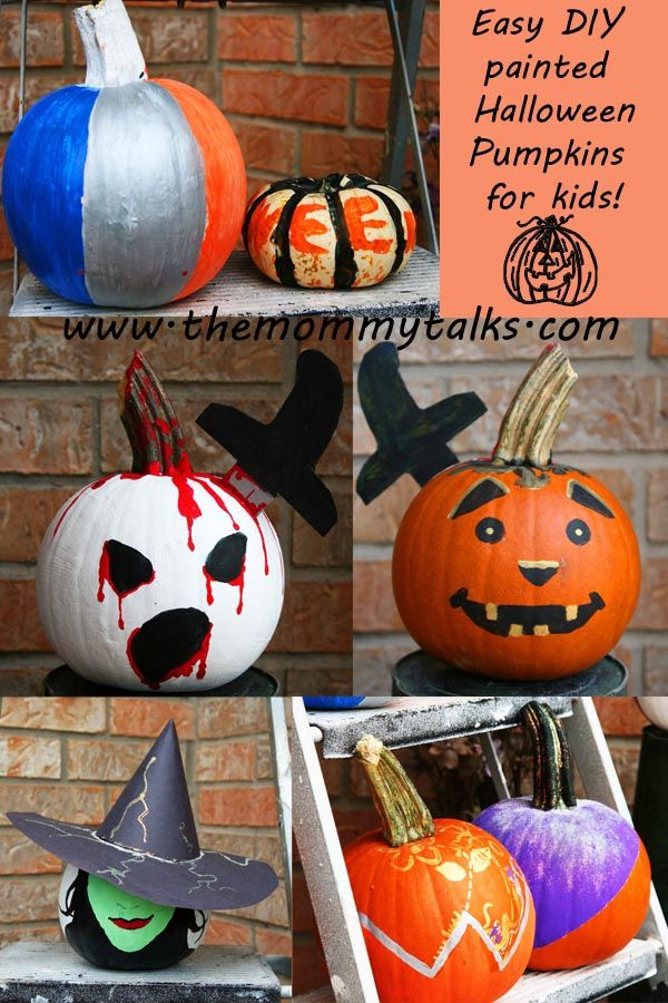 Fun And Easy Painted Pumpkins For Halloween The Mommy Talks Easy Halloween Crafts Halloween Crafts Halloween Pumpkins Painted