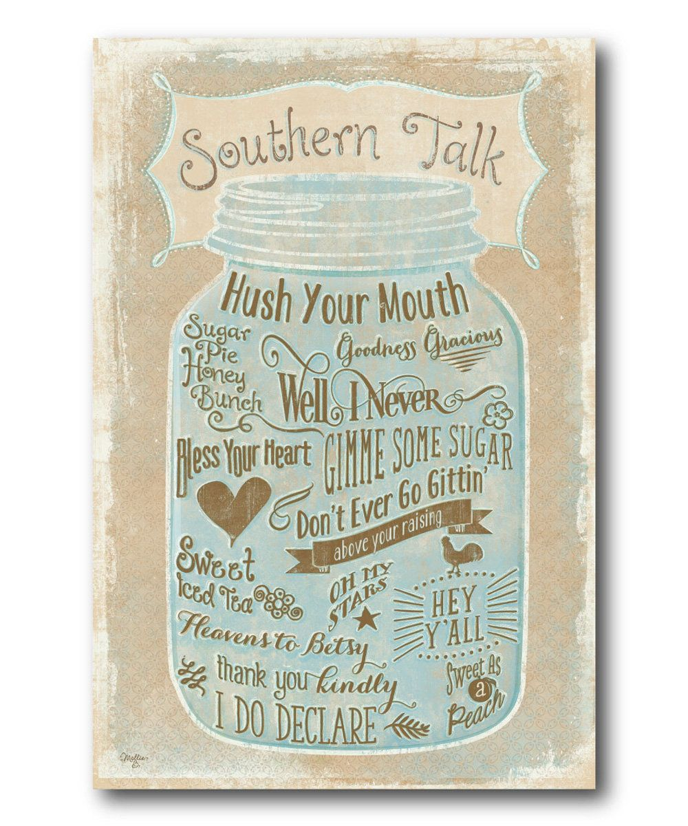 Look at this Southern Talk Wrapped Canvas on #zulily today!