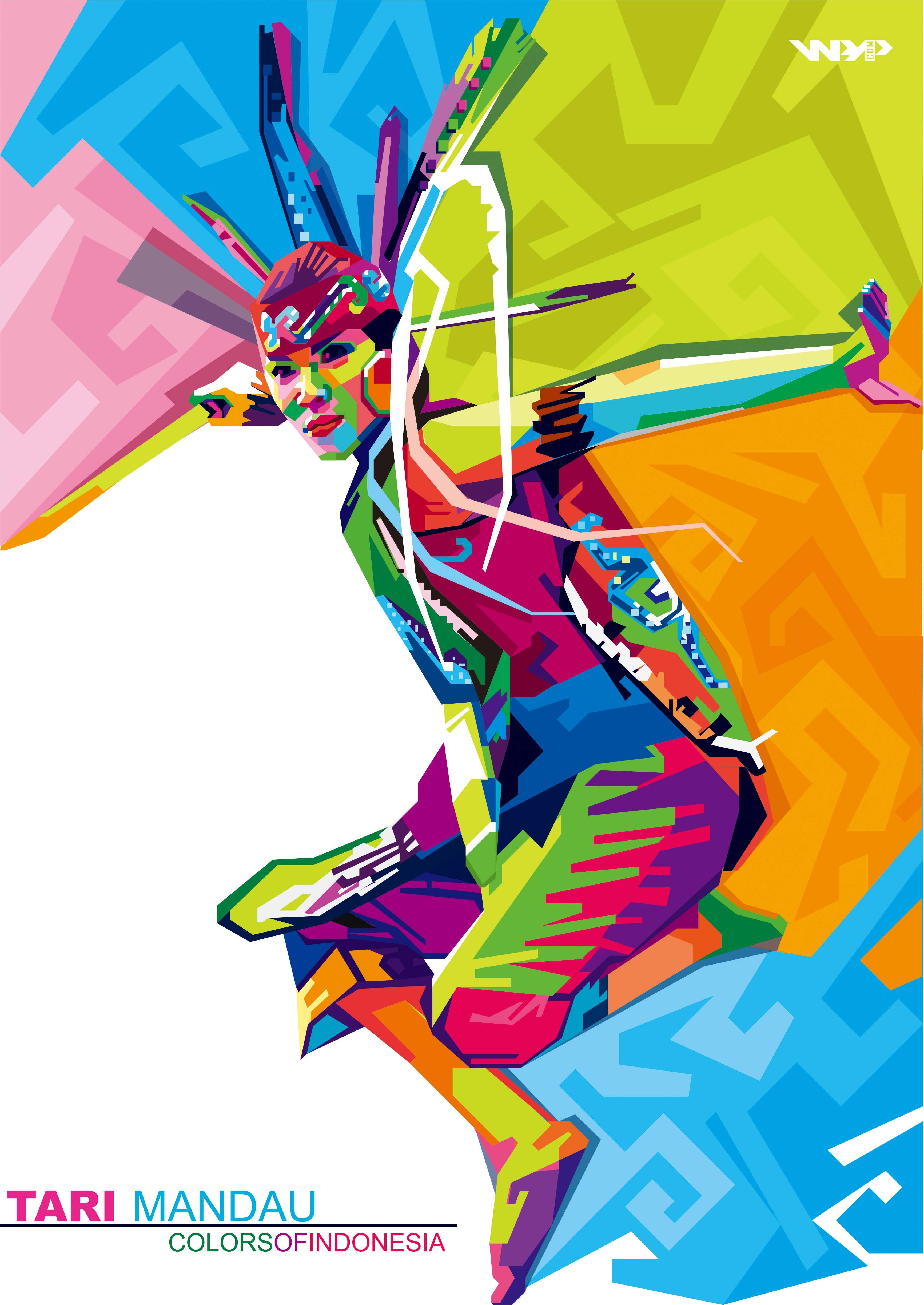 Mandau Dance Lukisan kaca, Seni, Sketsa