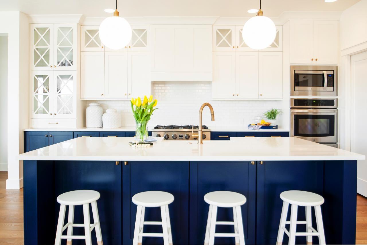 Designers Love These Trends for 2016 | Dark blue kitchen ...