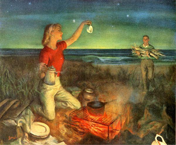 Vintage 1951 campfire coffee advertisement