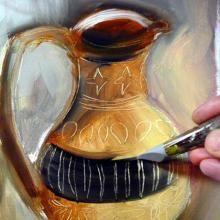 Sgraffite Ou Comment Graver La Peinture A L Huile Art