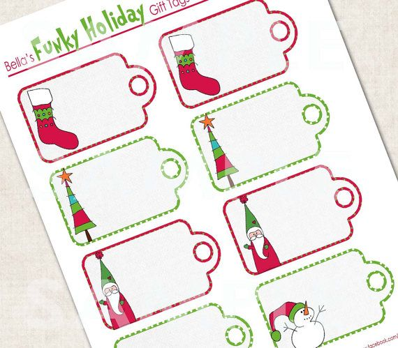 Funky Holiday Gift Tags