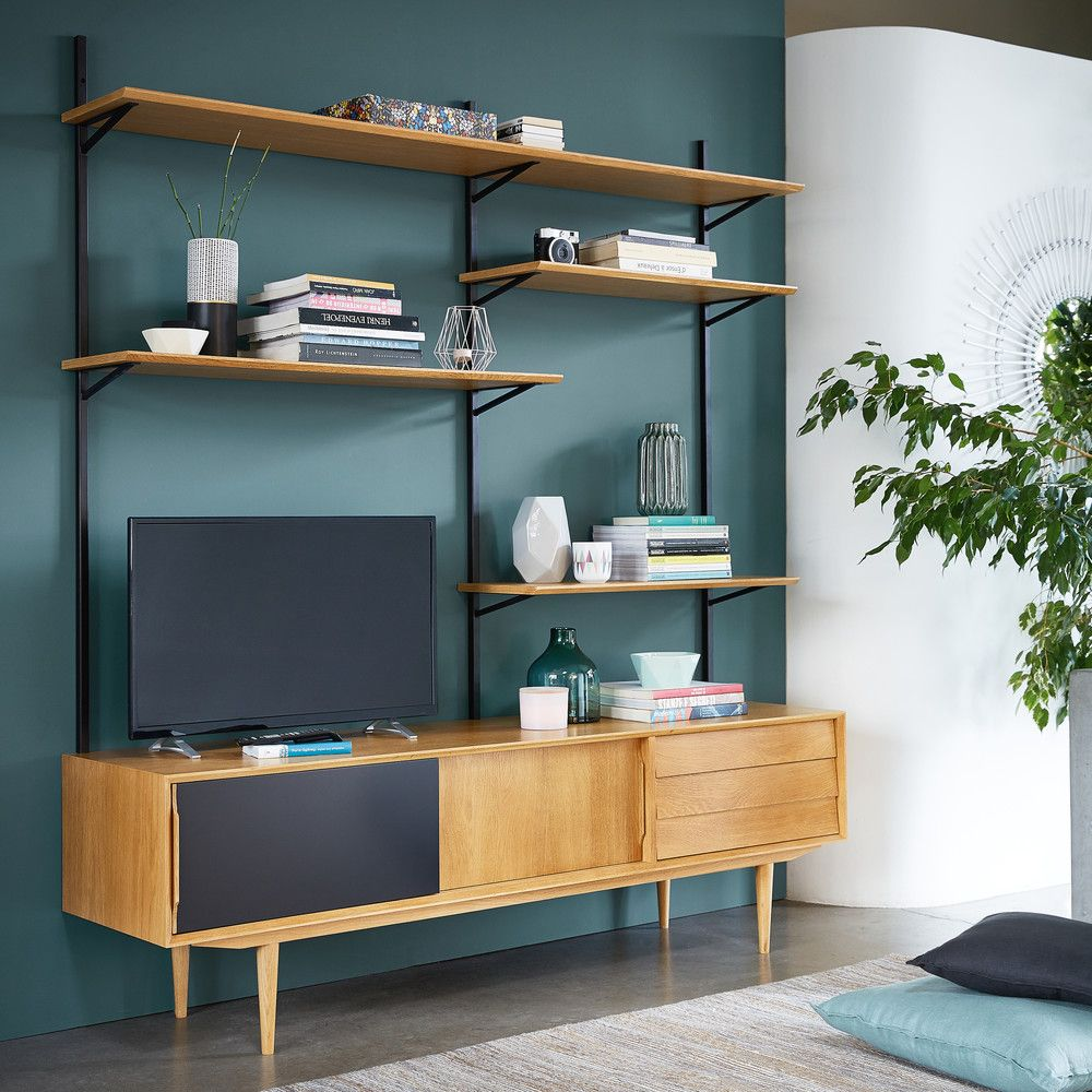 Libreria Porta Tv Maison Du Monde.Tv Stands Units In 2019 Home Furniture Living Room
