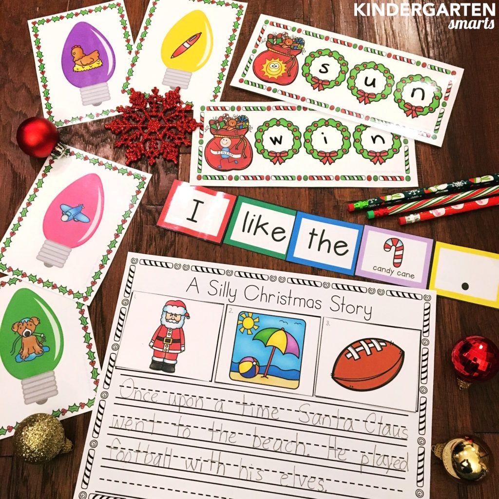 Christmas literacy centers!